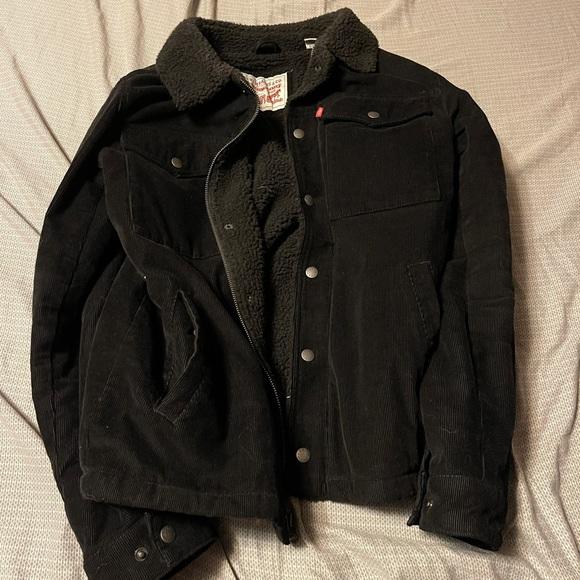Levi's corduroy Sherpa jacket black